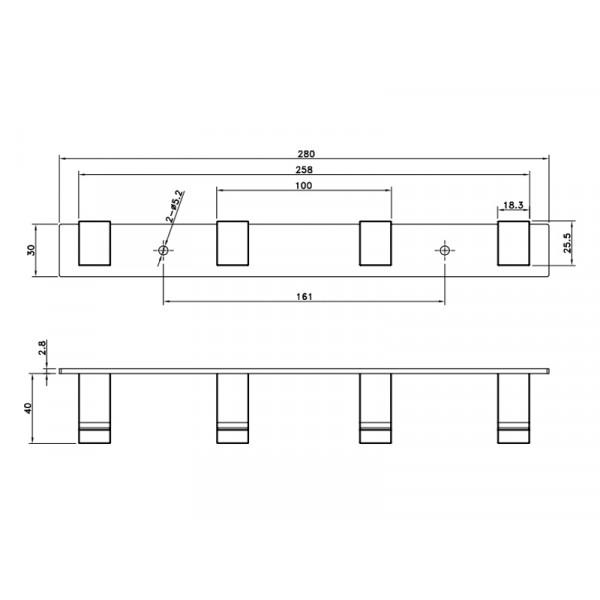 Планка с крючками ASIGNATURA Unique 85604802