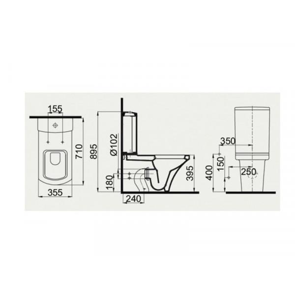 Унитаз-компакт с ф-й биде, вентилем и сидением US SC IDEVIT Vega SETK2804-0307-001-1-6200