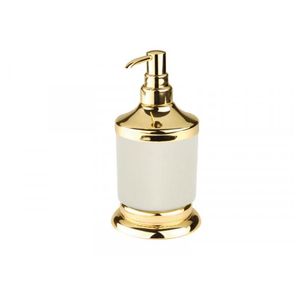 Дозатор для жидкого мыла, золото KUGU Versace Freestand 230G