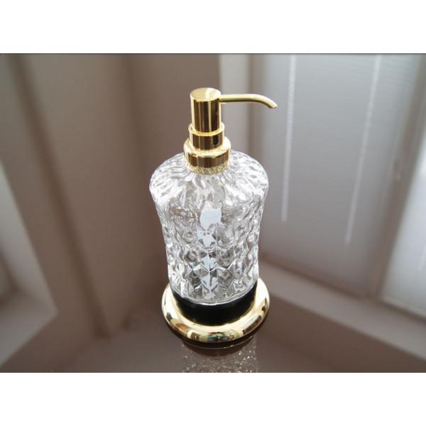 Дозатор для жидкого мыла, черный-золото KUGU Versace Freestand 230G&B