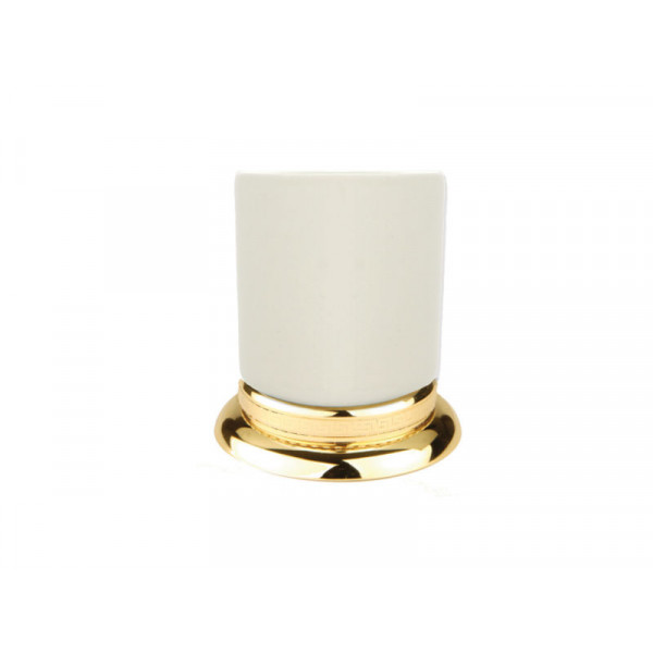 Стакан для зубных щеток, золото KUGU Versace Freestand 250G
