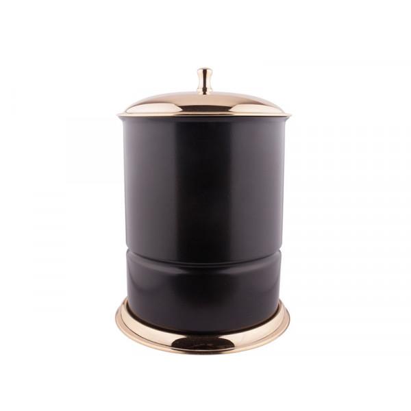 Ведро для мусора, золото-черный KUGU Waste Bin 926G&B