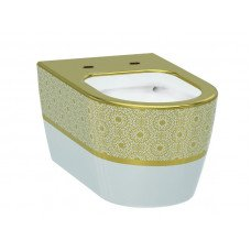 Чаша унитаза IDEVIT Alfa  3104-2616-1101, белый-золото