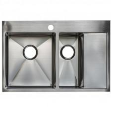 Кухонная мойка стальная Asil AS 3054-R Light Brushed