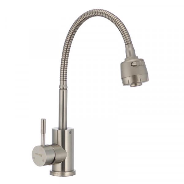 Смеситель для кухни MIXXUS SUS-011 с рефлекторным изливом (SS2797)