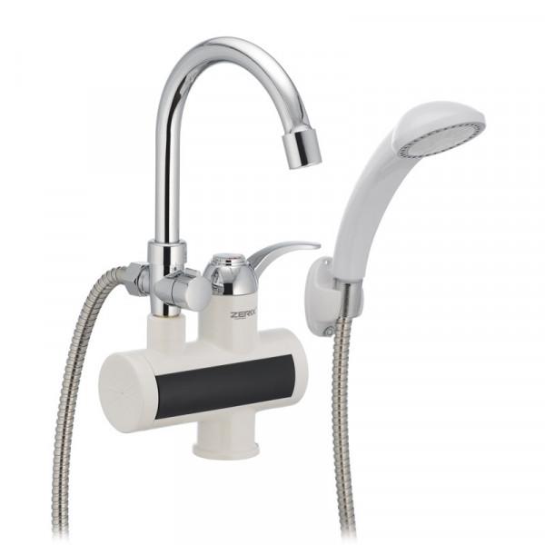 Проточный водонагреватель ZERIX ELW22-E (с индик. темп.) (ZX2984)