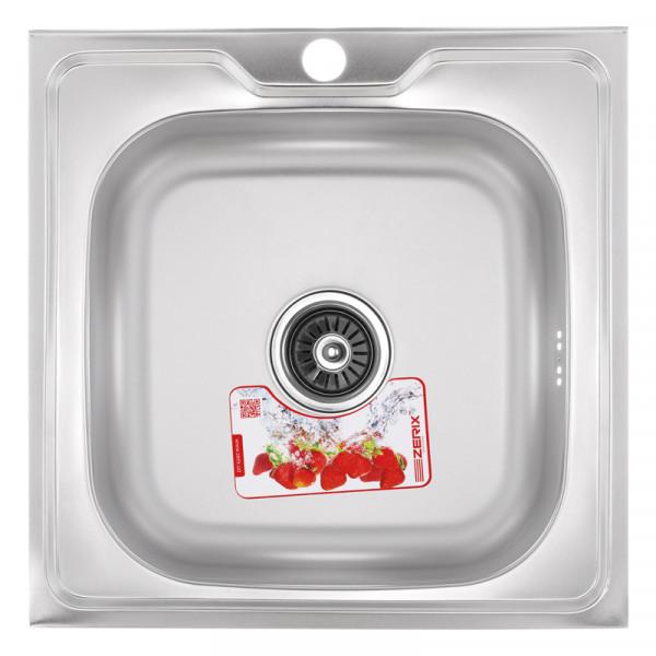 Кухонная мойка ZERIX Z5050-04-160E (SATIN)