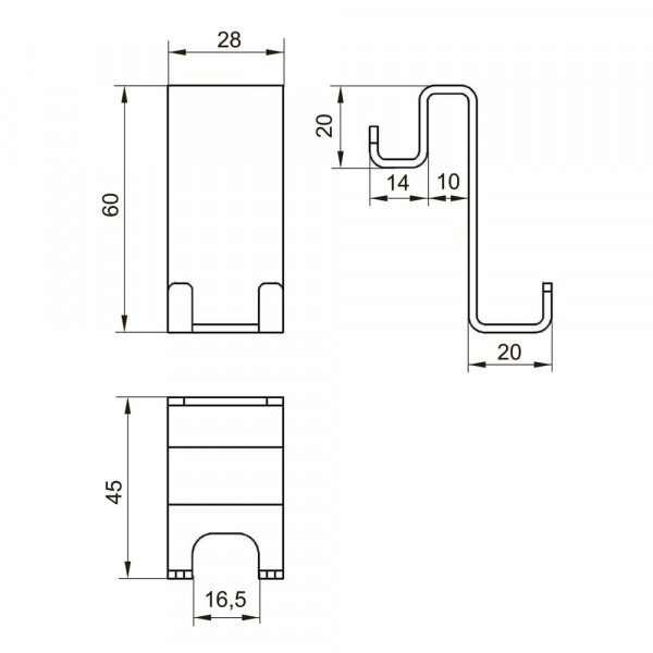 Крючок навесной двухстороний Eger 555/1-hook