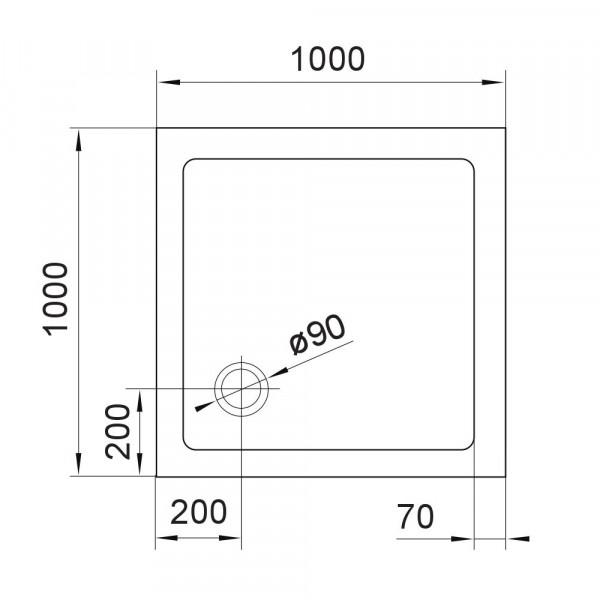 Поддон 100х100 Eger SMC 599-1010S
