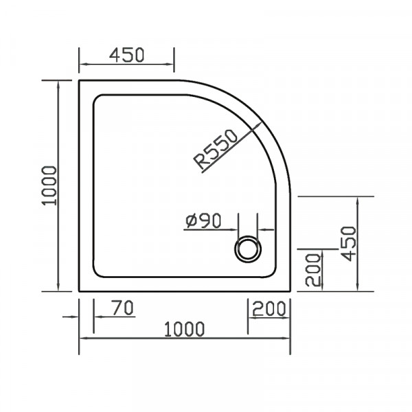 Поддон 100х100 Eger SMC 599-1010R