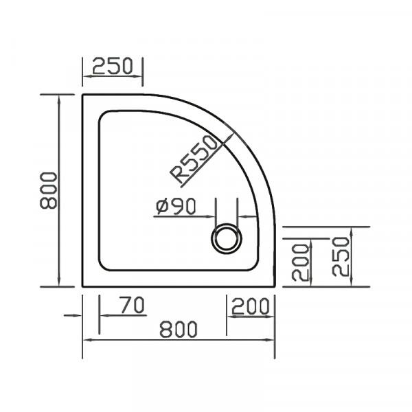 Поддон из искусственного камня 80х80 Eger SMC 599-8080R
