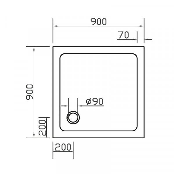 Поддон 90х90 Eger SMC 599-9090S