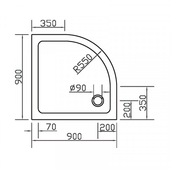 Душевой поддон 90х90 Eger SMC 599-9090R