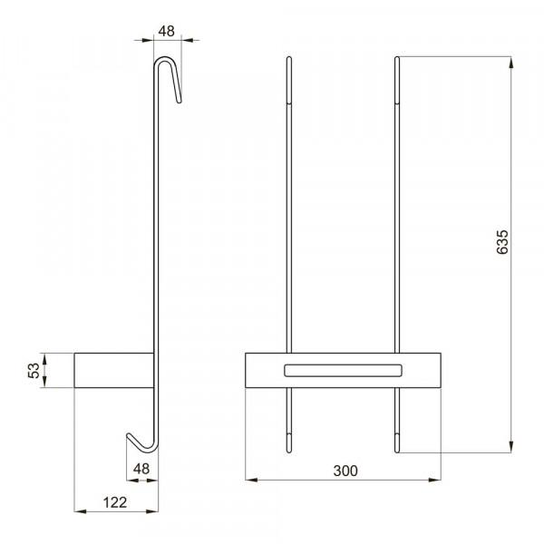 Одинарная подвесная полочка EGER 555-79