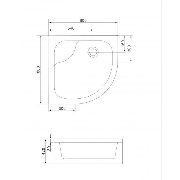 Душевая кабина 90x90x200 Eger Tisza 599-187