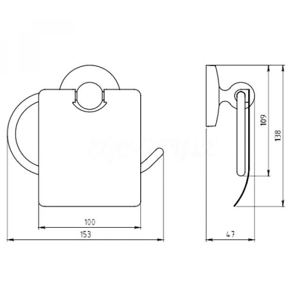 Держатель для туалетной бумаги Ferro Novatorre 6138.0