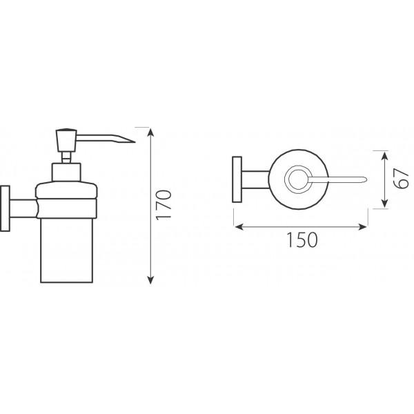 Дозатор для мыла Ferro Grace AC34