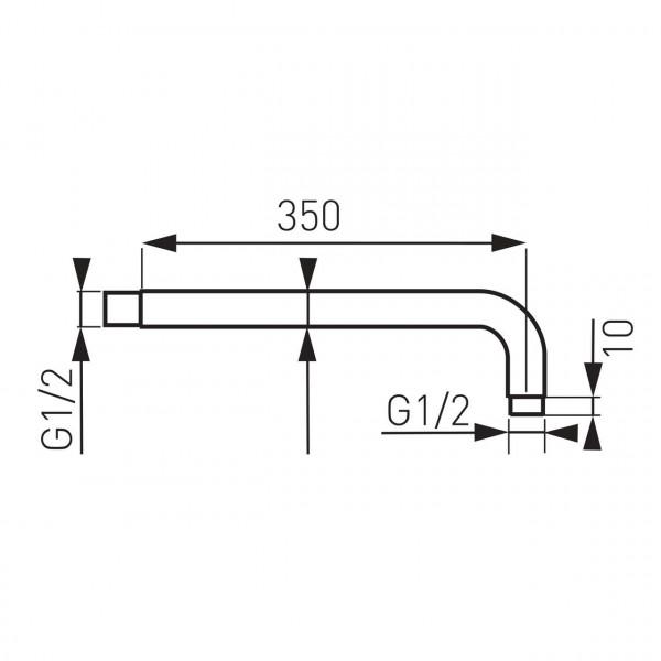 Кронштейн для верхнего душа, 350 мм. Ferro RN35