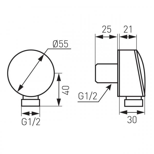 Патрубок для душ.шланга FERRO Ferro PKN01