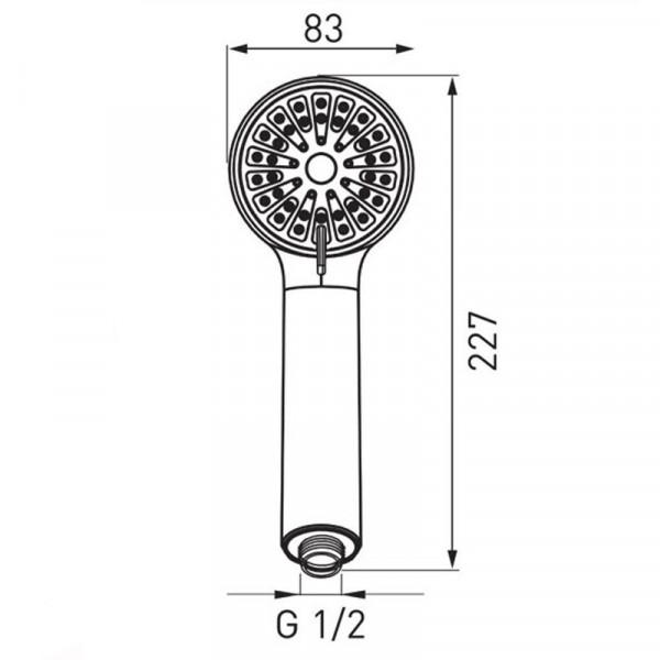 Ручной душ 3 режима Ferro Cortessa S330