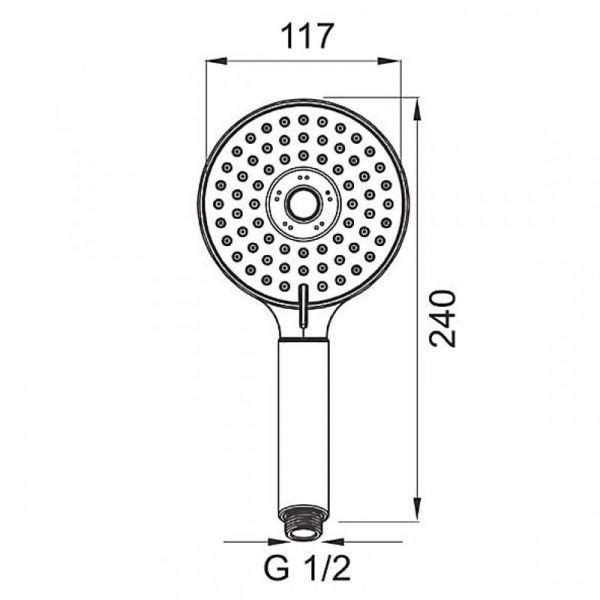 Ручной душ 3 режима Ferro Mattiono S310