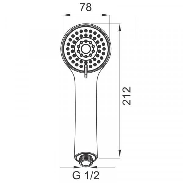 Ручной душ 3 режима Ferro S305