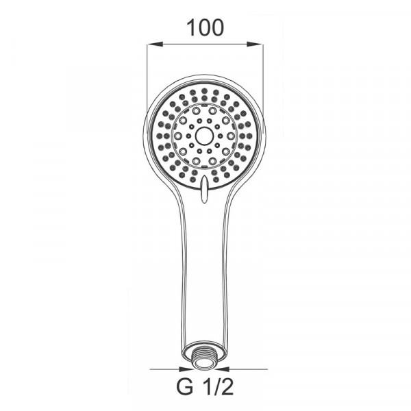 Ручной душ 5 режима Ferro Sera S500