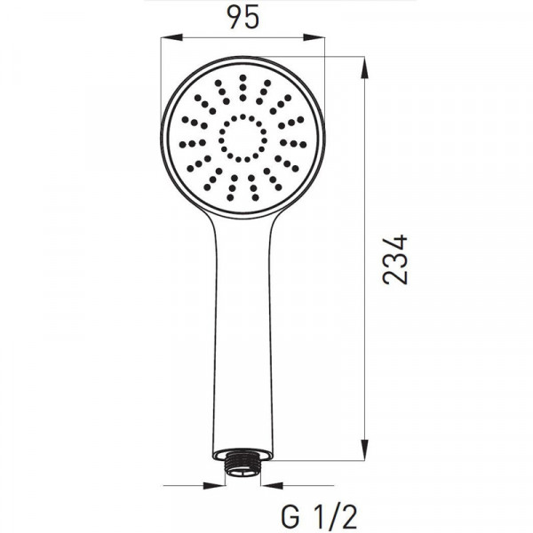 Ручной душ Ferro Bello S180B