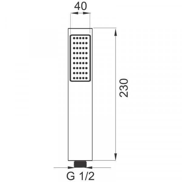 Ручной душ Ferro Moderno S115