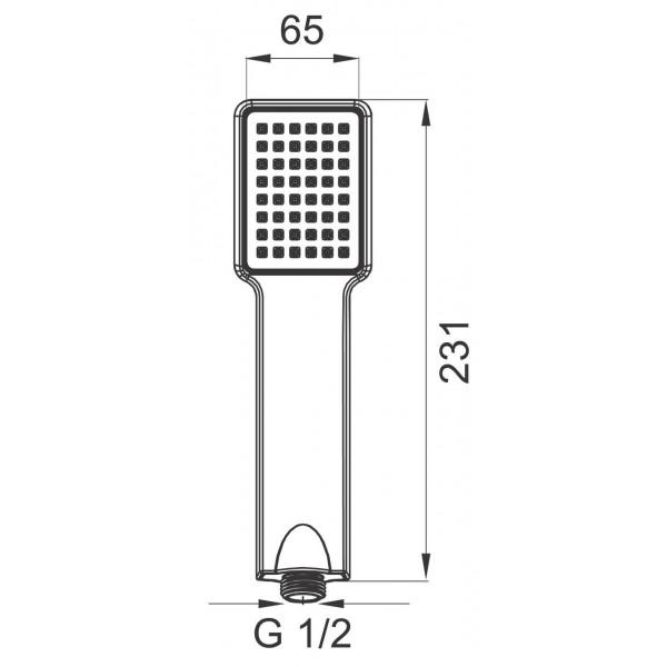 Ручной душ Ferro Quadro S110