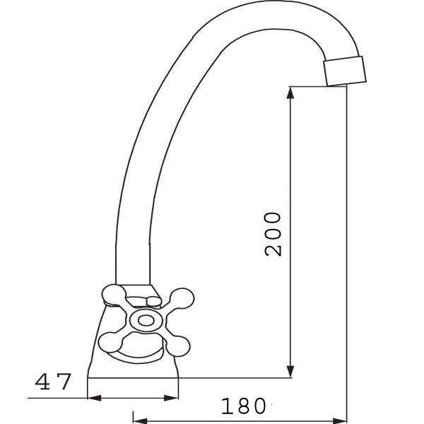 Смеситель для кухни двухвентильный Ferro Retro XR4