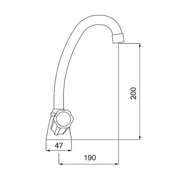 Смеситель для кухни двухвентильный Ferro Standart New BSTC4