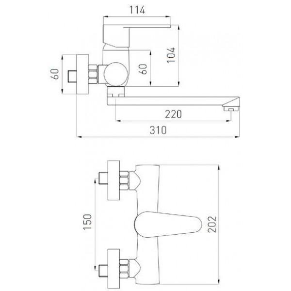 Смеситель для кухни настенный Ferro Algeo BAG5