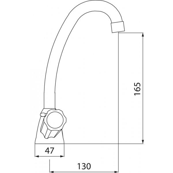 Смеситель для раковины двухвентильный Ferro Standart BST2