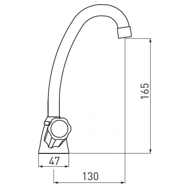 Смеситель для раковины двухвентильный Ferro Standart New BSTC2