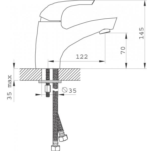 Смеситель для раковины Ferro Genova BGE2VL