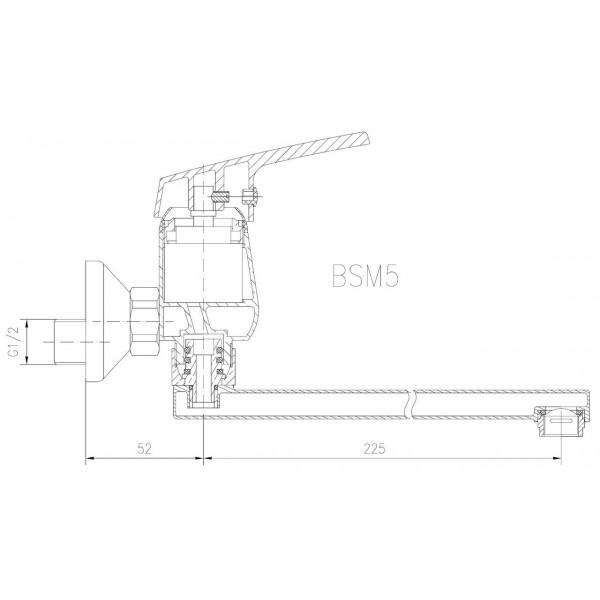 Смеситель для раковины настенный Ferro Smile BSM5