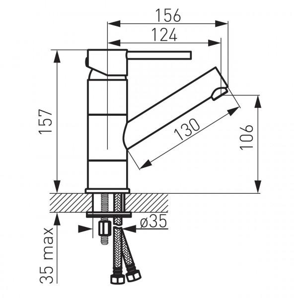 Смеситель для рукомойника с поворотным изливом Ferro Fiesta BFI2A