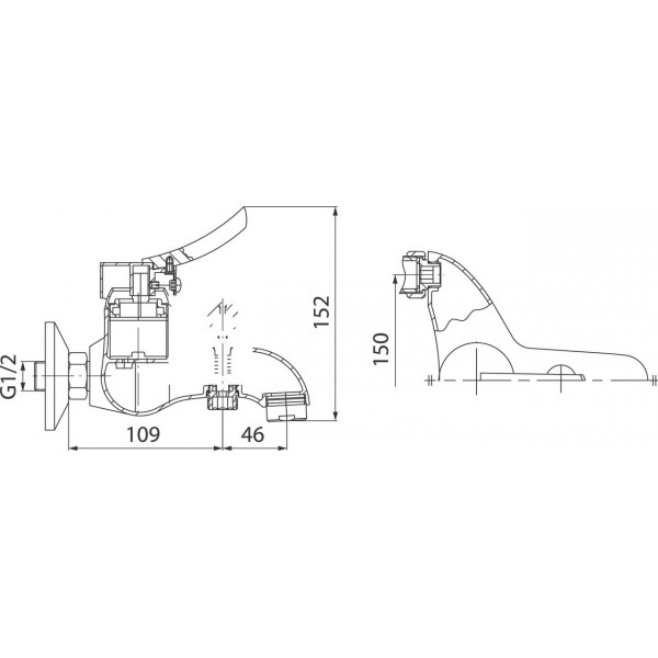 Смеситель для ванны Ferro Werona BTW1