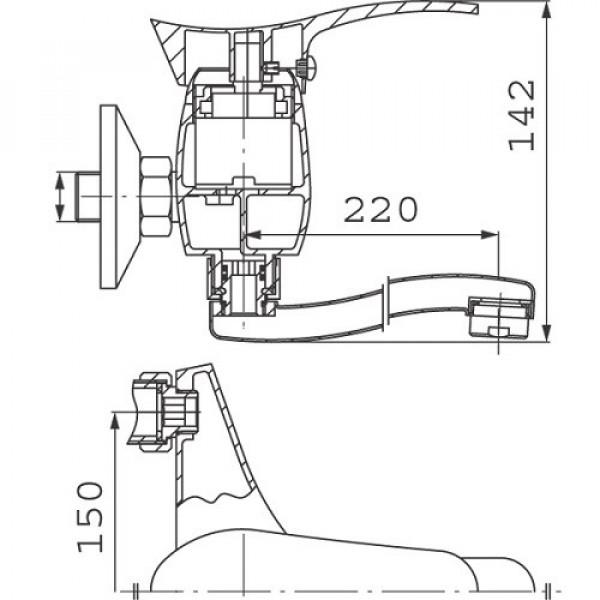 Смеситель для ванны с длинным изливом Ferro Loretta BLA92A
