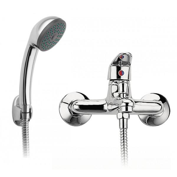 Смеситель для ванны с душевым гарнитуром Ferro Smile BSM11