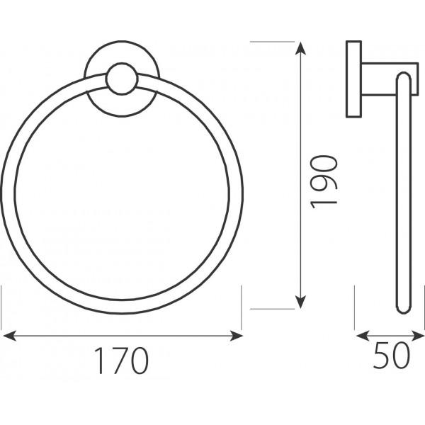Вешалка для полотенец круглая Ferro Grace AC11