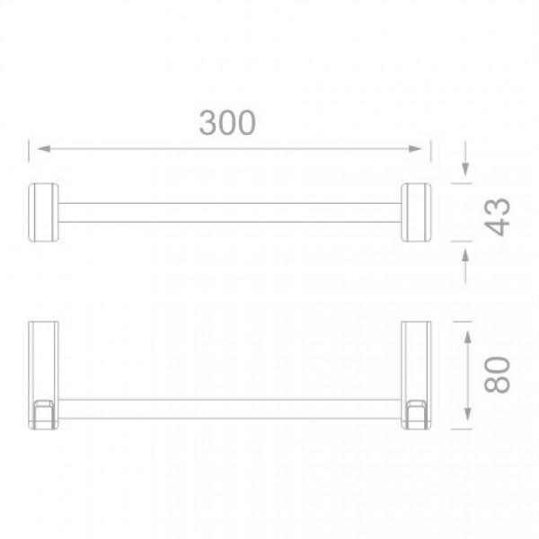 Держатель для полотенец 30 см Yacore Fab F3004WC