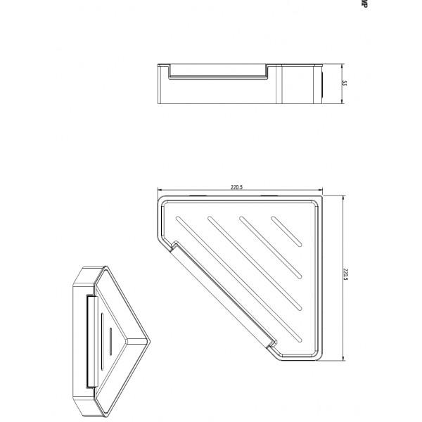 Полочка угловая c функцией удаление потеков Yacore Fab BS0719