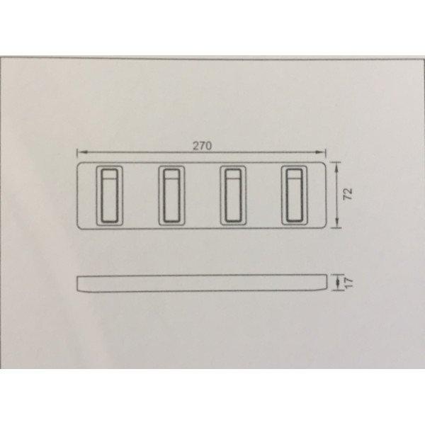 Вешалка с одкидными крючками Yacore Fab 9900-4WC