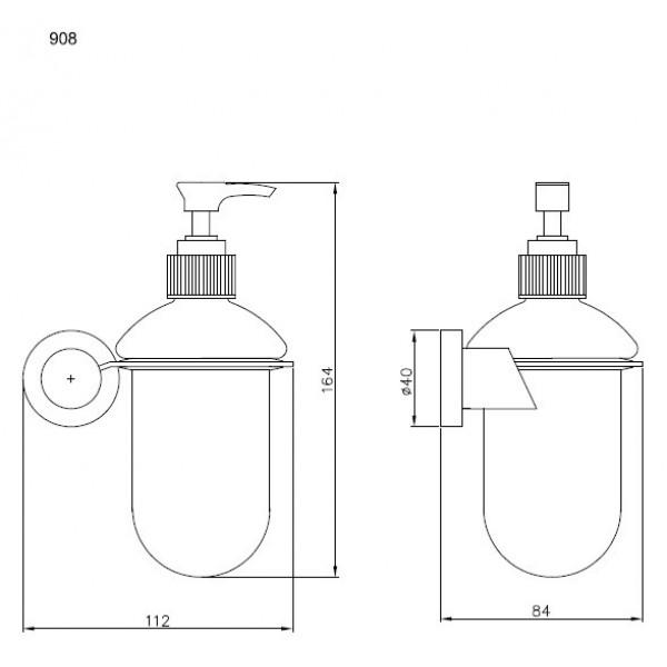 Дозатор жидкого мыла Andex Novel 908/SG
