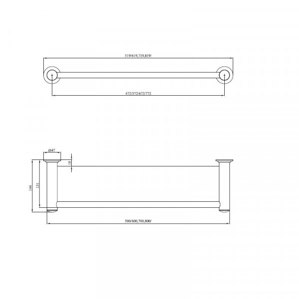 Полка в ванную 50 см Andex Classic 001/50/CC
