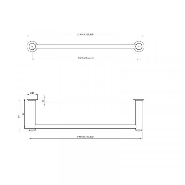 Полка в ванную 60 см Andex Classic 001/60/CC