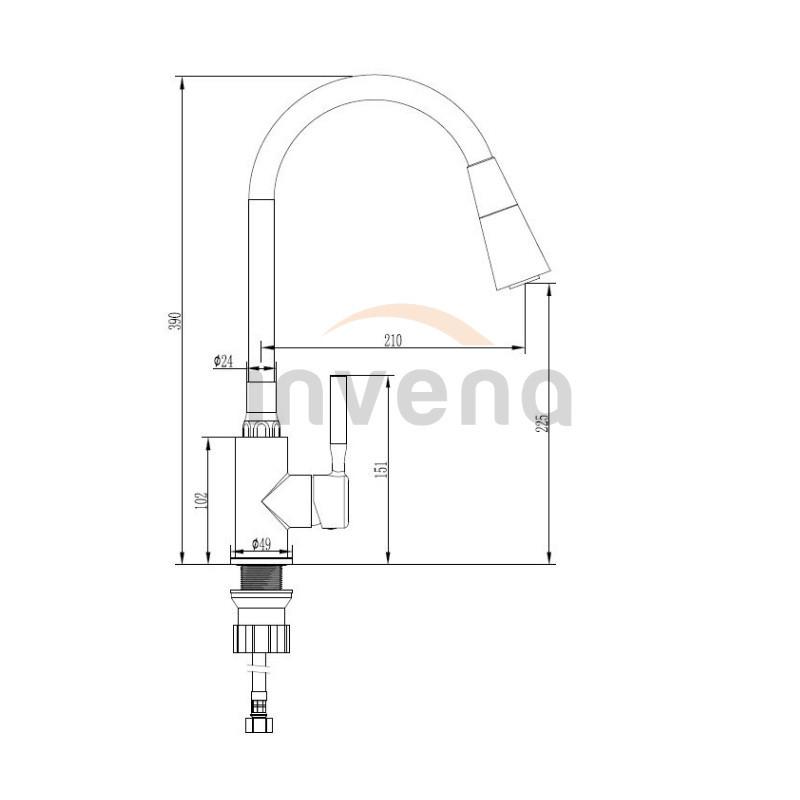 Смеситель для кухни Invena Hula BZ-85-L04 черный 3