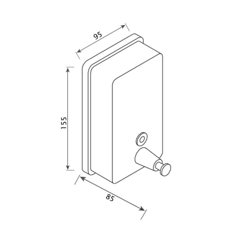 Дозатор для жидкого мыла Lidz (CRM)-121.02.05 2